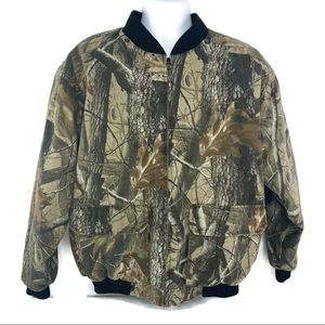 Game Winner Hardwoods Camo Jacket Quilted  Large